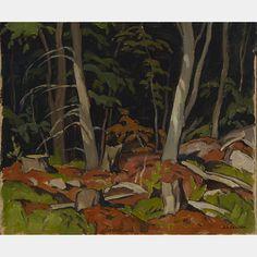 """""""Combermere,"""" Alfred Joseph Casson, 1968, oil on board, 9.5 x 11.25"""", private collection."""