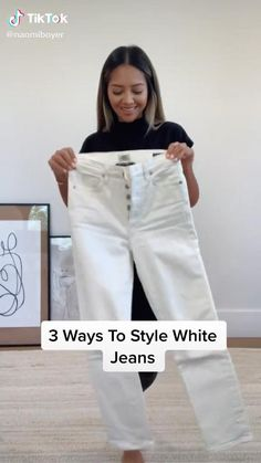 Ootd Fashion, Fashion Beauty, Fashion Outfits, Fashion Tips, Flawless Makeup, Tik Tok, New Look, Outfit Of The Day, White Jeans