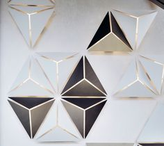 Lighting designer Alex Fitzpatrick has created an energy-efficient, lighting system that serves as both a functional wall fixture and a piece of custom art. Ceiling Design, Wall Design, Design Art, Geometric Origami, Geometric Shapes, Tree Watercolor Painting, Mood Images, Luminaire Design, Light Installation