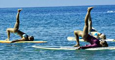 Lots of pose suggestions for SUP yoga.