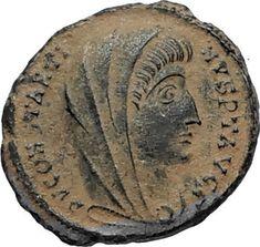 Divus Saint CONSTANTINE I the GREAT 347AD Authentic Ancient Roman Coin i67019 Ancient Roman Coins, Ancient Romans, St Constantine, Pirate Treasure, Rare Coins, Coin Collecting, Saints, Artemis, Seals