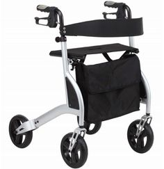 Walking Frame Compact and Lightweight Roller Walker Collapsible Portable Walker for Grandparents Gifts