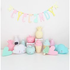 cute pastel decorations for a kids room...