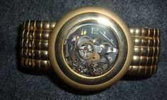 RetroUpcycled Watch Parts Bracelet SteamPunk Wide by LessieBlue, $15.99