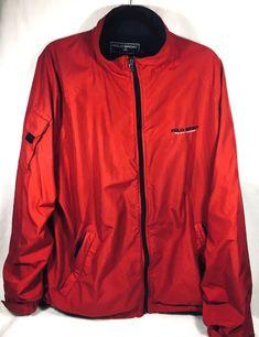 info for ee669 bac70 Ralph Lauren Polo Sport Men s Red Full Zip Golf Jacket Windbreaker Vintage  Sz XL  RalphLauren
