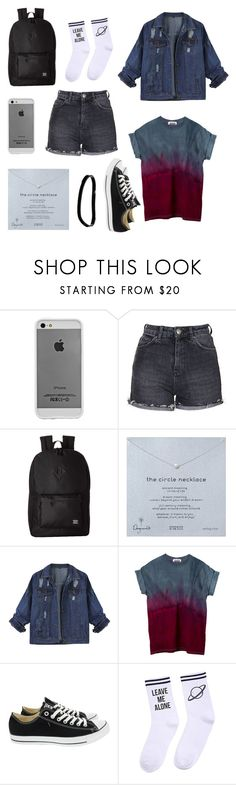"""Tie dye"" by hailstone360 ❤ liked on Polyvore featuring Case-Mate, Topshop, Herschel Supply Co., Dogeared, Converse, Yeah Bunny and ASOS"