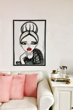 Red Lips and Polka Dots | Artwork bij Wendy Buiter