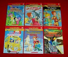 Magic School Bus Chapter Books Lot 6 Magnet Insects Grades 2 3 4 Science RL3 Magic School Bus, Chapter Books, Good Books, Science, Baseball Cards, History, Historia, Great Books