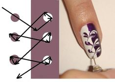 Gel Nail Designs You Should Try Out – Your Beautiful Nails Nail Art Diy, Easy Nail Art, Cool Nail Art, Diy Nails, How To Nail Art, Diy Art, Swirl Nail Art, Diy Nail Designs, Simple Nail Designs