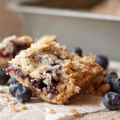 """Blueberry Crumble Bars 