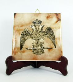 Double Headed Masonic Eagle Ceramic Tile by TerryTiles2014