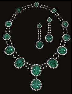 Aderezo de esmeraldas de la Condesa Viuda de Romanones