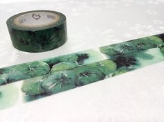 water lily leaves masking tape 7M watercolor lotus by TapesKingdom