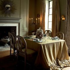 Hanging glass baubles | Traditional Christmas dining room ideas | housetohome.co.uk