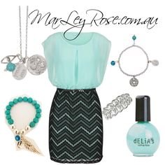 Turquoise Love by marleyrose01 on Polyvore