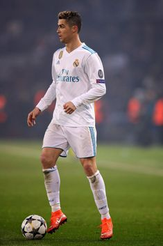 Cristiano Ronaldo of Real Madrid in action during the UEFA Champions League Round of 16 Second Leg match between Paris Saint-Germain and Real Madrid at Parc des Princes on March 2018 in Paris,. Get premium, high resolution news photos at Getty Images Cristiano Ronaldo Quotes, Messi Vs Ronaldo, Cristiano Ronaldo Wallpapers, Messi And Neymar, Ronaldo Football, Ronaldo Juventus, Real Madrid Team, Ronaldo Real Madrid, Uefa Champions