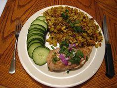 tandoori chicken and curry cauliflower rice