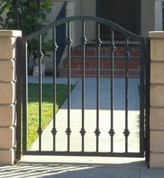 Image result for simple wrought iron gate and fence design