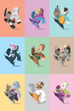 Happy Little Bad Guys   We got Megatron, Venom, Freddy, Predator, Shredder, and Joker just to name a few.
