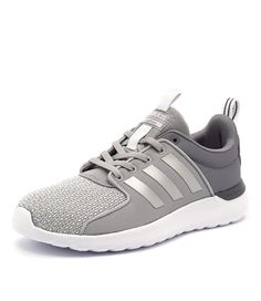 This sneaker has been made with a neoprene-like textile upper and features the iconic seamless 3-Stripe design. Streamlined and lightweight, these sneakers provide superior cushioning and a snug, soft feel. Shop 'Cloudfoam Lite Racer Onix Silver White' by Adidas Neo at styletread.com.au
