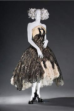 Modern Love at the Bendigo - hopefully this will be one of the dresses they bring. Alexander McQueen's peacock dress
