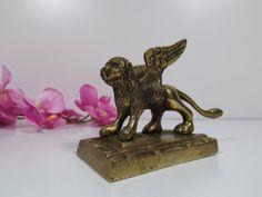 Bronze Sculpture Figurine Vintage Metal Figurine by HuntWithJoy