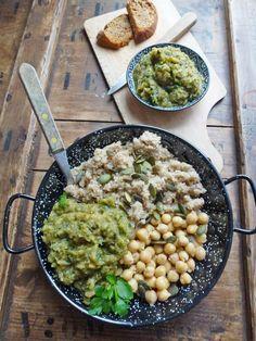 Compotée / tartinade de courgettes, fenouil & pois chiche