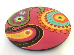 Your place to buy and sell all things handmade Lazy Susan, Pottery Painting, Painting On Wood, Rock Painting, Ceramic Plates, Ceramic Pottery, Art Furniture, Painted Furniture, Painted Rocks