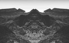 Mat Piranda offers a mirrored vision of black-and-white landscapes with his 'Rorschach Photography' photo series,