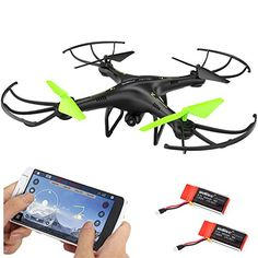 Cheerwing Petrel U42W Wifi FPV Drone 24Ghz RC Quadcopter with HD Camera Flight Route Mode and Altitude Hold One Key Take Off  Landing ** Learn more by visiting the image link.