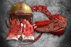 The Boston College football team will wear special helmets, gloves and cleats emblazoned on Saturday with a red bandana in honor of former Eagles lacrosse player Welles Crowther, who died in the Sept. 11 terrorist attacks after saving at least a dozen people at the World Trade Center in New York City.