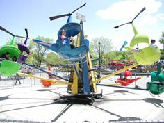 Helicopters at Bay Beach. Tickets are only 25¢!!! Most rides only require 1-2 tickets. Great place to take the kids!!