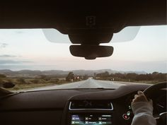 #car #roadtrip #sunset #mountains #clouds #sky #road #trees #driving #aesthetic #vsco Mountain S, Airplane View, Vsco, My Photos, Road Trip, Trees, Inspirational Quotes, Clouds, Sunset