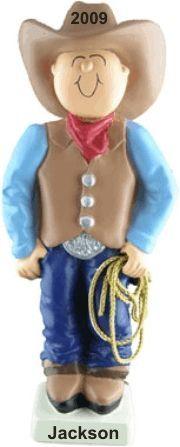 Cowboy Christmas - Personalized Boy Ornament
