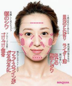 顔筋コーディネーターKatsuyoさんに 教えてもらいました!「スペリアルメソッド表参道店」主宰。施術はもちろん、顔筋診断や講演なども手がける。著名人のファンも多数。www.kty-method.jpシワもたるみも、根っこは 肌の下のコリにあり!