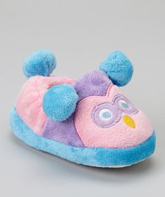 Take a look at this Chatties Lilac Owl Plush Slipper on zulily today!