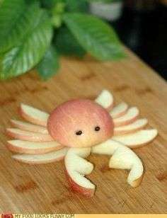 Apple crab: Cute, healthy snack for an under the sea birthday party, nautical bash, mermaid theme, pirate party, fishing party, and more! by britney