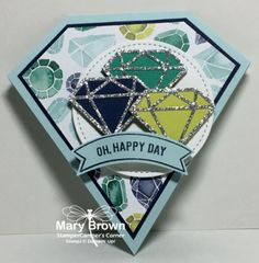 2017 Shaped Cards | StamperCamper's Corner Set(s): Thoughtfu Banners Paper: Whisper White, Night of Navy, Emerald Envy, Lemon Lime Twist, Soft Sky, Naturally Eclectic dsp, Silver Glimmer Ink: Night of Navy Other: Stitched Shapes Framelits, Eclectic Layers thinlits, Banner Duo Punch, Dimensionals