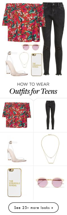 """Untitled #670"" by andre-amj on Polyvore featuring New Look, BaubleBar, Kacey K Fine Jewelry and Sheriff&Cherry"