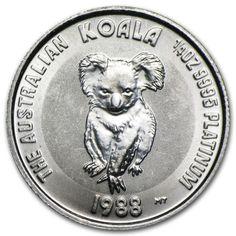1/4 oz Australian Platinum Koala Coin - Random Year - SKU #28986. Deal Price: $421.06. List Price: $438.99. Visit http://dealtodeals.com/oz-australian-platinum-koala-coin-random-year-sku/d19494/coins-paper-money/c195/