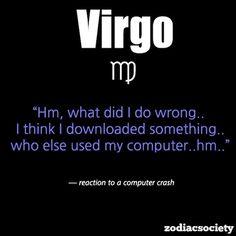 Virgo  reaction to a computer crash