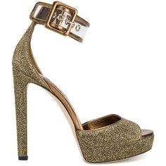 6511e13163e Jimmy Choo Jimmy Choo Glitter Mayner Sandals (1