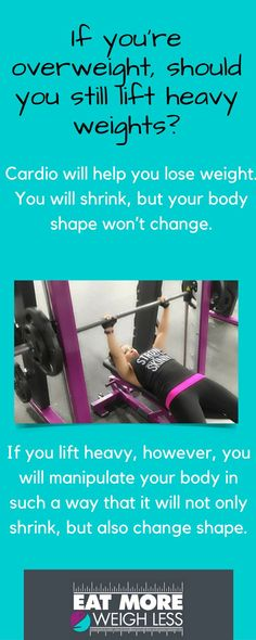 """Don't be intimidated by the thought of lifting """"heavy."""" Heavy is relative, but you definitely want to start lifting as soon as possible. loose weight for beginners Heavy Weight Lifting, Weight Lifting Workouts, Lift Heavy, Weight Loss, Weight Training For Beginners, Weights Workout For Women, Strength Training Women, Women Lifting, Heavy Weights"""