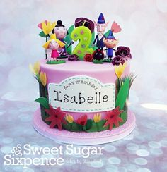 Ben and Holly cake Fairy Birthday Cake, 4th Birthday Cakes, First Birthday Party Themes, Happy 2nd Birthday, Ben And Holly Party Ideas, Ben And Holly Cake, Ben E Holly, Cake Tv Show, Safari Cakes