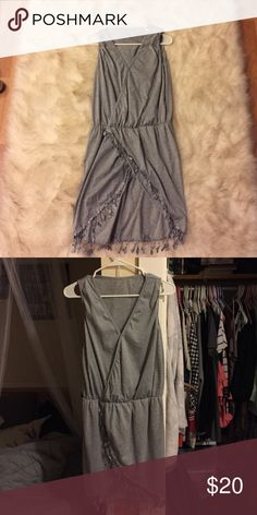 Grey dress Very sexy and flattering TOBI dress. Never worn. Perfect for a warm night out, super comfortable and so trendy! Tobi Dresses Mini