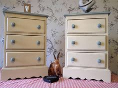 A Lovely Pair of Vintage Pine,  Shabby Chic Bedside Cabinets