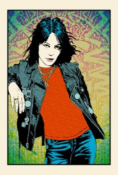 """Joan Jett"" by Chuck Sperry.  21"" x 31"" 7-color Screenprint.  Ed of 300 S/N.  $150"