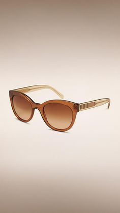 dbe14f86ee3ffe Taupe brown Check Detail Oval Frame Sunglasses - Image 1 Trench Coats, Oval  Frame,