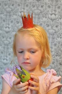 fairy crowns ---- out of toilet paper rolls?  Little girls can decorate their own.