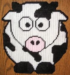 cute cow Plastic Canvas Pattern 3.00